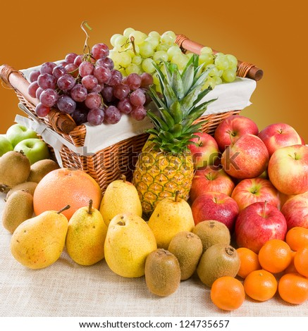 Composition of Fruits - stock photo