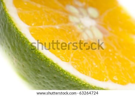 composition of fruits on white background - stock photo