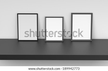 composition of photo frames from front - stock photo