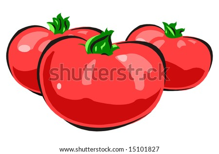 composition of tomatoes - stock photo