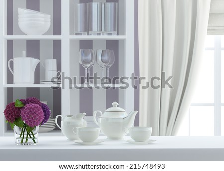 composition with bouquet - stock photo