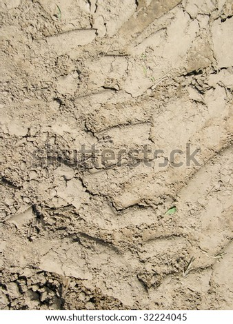 Compressed dirt - stock photo