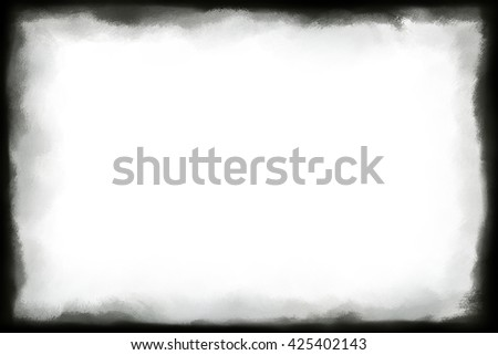 Computer and digitally hand painted grunge frame for your text or as border for images. - stock photo