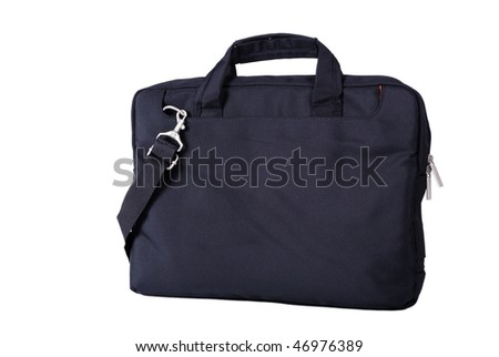Computer bag isolated on a white background - stock photo