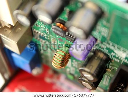 Computer board - stock photo