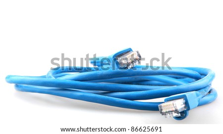 Computer cable - stock photo