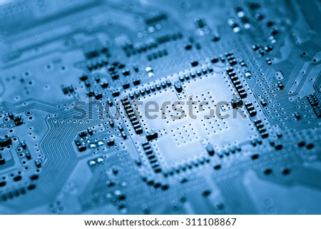 Computer circuit board, web design background - stock photo