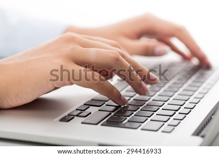 Computer, Computer Keyboard, Technology. - stock photo