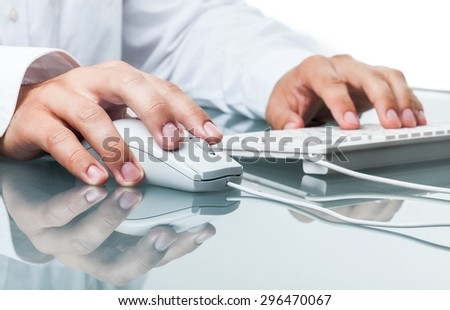 Computer, Computer Mouse, Computer Programmer. - stock photo