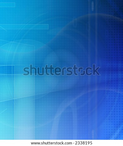 Computer designed binary code blue abstract background - stock photo