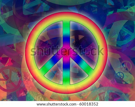Computer designed highly detailed grunge abstract textured collage - Peace Background - stock photo