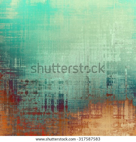 Computer designed highly detailed vintage texture or background. With different color patterns: yellow (beige); brown; green; cyan - stock photo