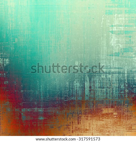 Computer designed highly detailed vintage texture or background. With different color patterns: yellow (beige); green; gray; red (orange) - stock photo