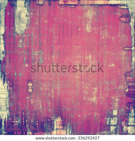 Computer designed highly detailed vintage texture or background. With different color patterns: yellow (beige); purple (violet); gray; pink - stock photo