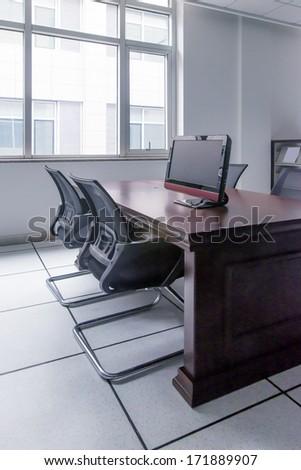 Computer desk - stock photo