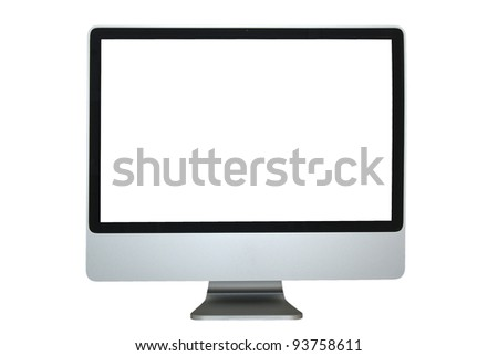 Computer Display (Clipping Path is included) - stock photo