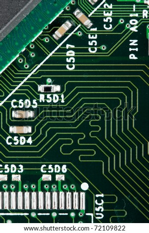 Computer electronic circuit. Use for background or texture - stock photo