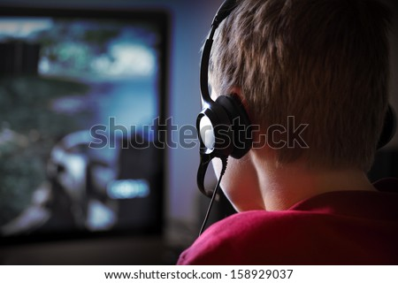 Computer Gaming - stock photo