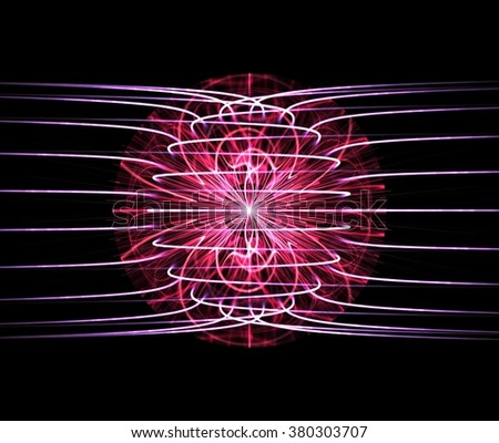 Computer generated electrical magnetism concept - stock photo