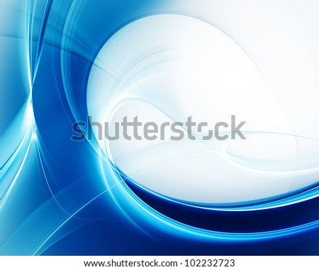 Computer graphics abstract background design in blue and white colors - stock photo
