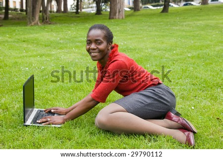 computer job - stock photo