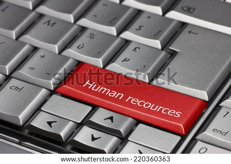 Computer key - Human Resources - stock photo