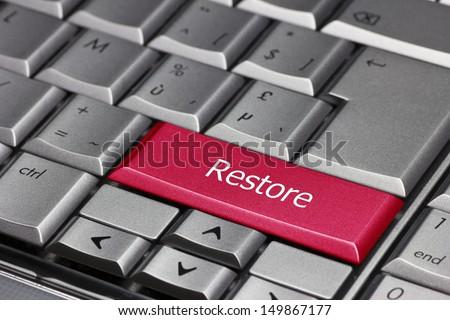 Computer key - Restore - stock photo
