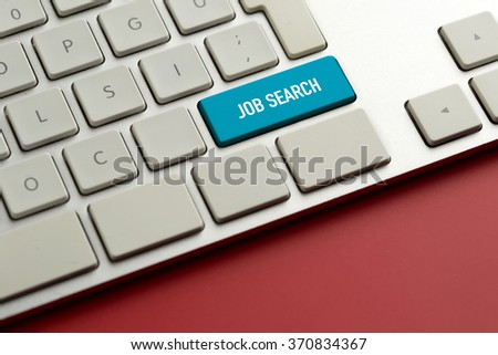 Computer key showing the word JOB SEARCH - stock photo