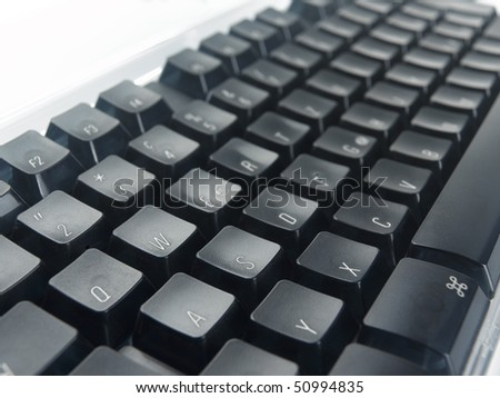 Computer Keyboard, Detail - stock photo