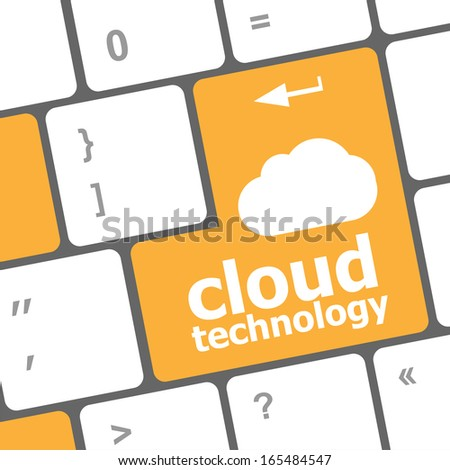computer keyboard for cloud technology - stock photo