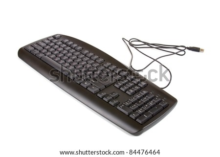 Computer keyboard, isolated on a white background - stock photo