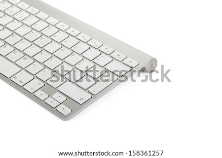 Computer keyboard isolated over white background - stock photo