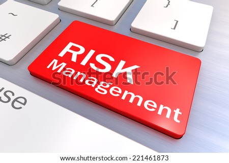 Computer keyboard rendered illustration with a Risk Management Button Concept - stock photo