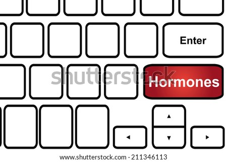 Computer keyboard with word hormones. - stock photo