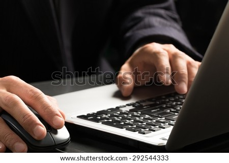Computer, Laptop, Technology. - stock photo