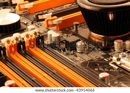 Computer main board details - stock photo