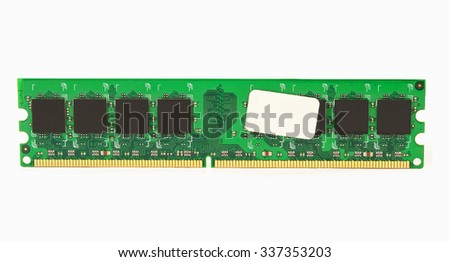 computer memory isolated on white - stock photo