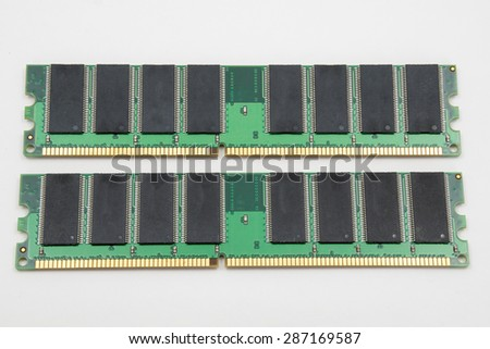 Computer memory isolated on white background - stock photo