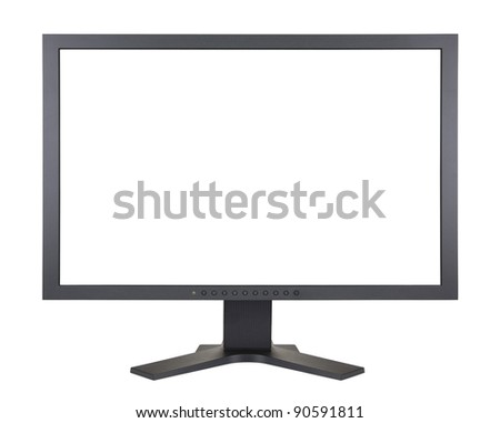 Computer monitor with clipping path - stock photo