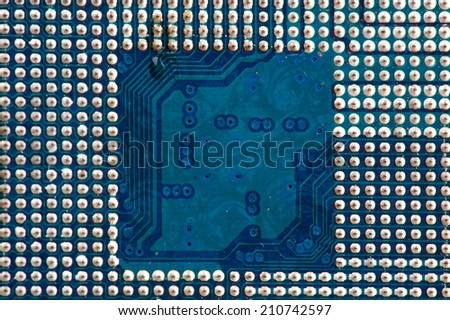 Computer mother board part circuitboards  - stock photo