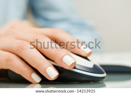 Computer mouse. - stock photo