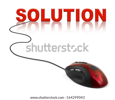 Computer mouse and books - e-learning concept - stock photo
