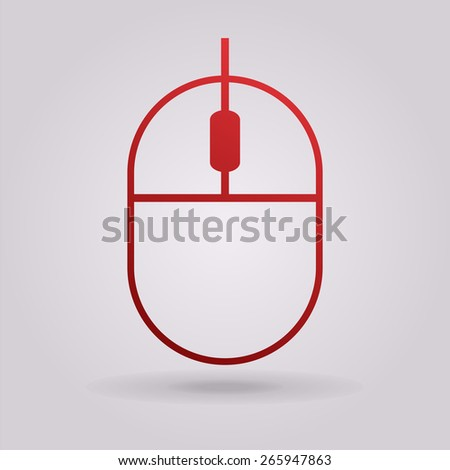Computer mouse icon - stock photo