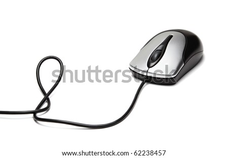 Computer mouse isolated on a white background - stock photo