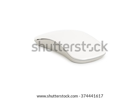 Computer mouse on a white background, - stock photo