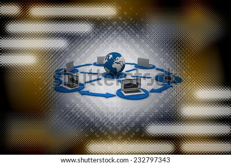 Computer Network and internet communication concept  - stock photo