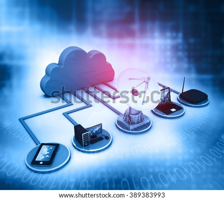 Computer Network and internet communication concept. - stock photo