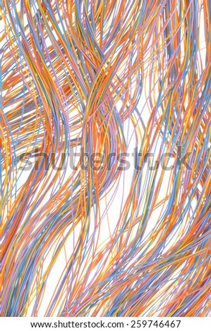 Computer network connections, concept of information chaos - stock photo