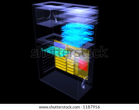 computer pc technology - stock photo