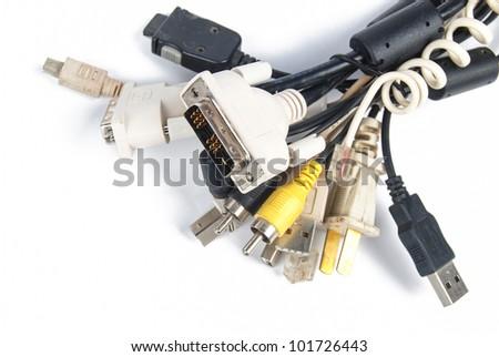 Computer plugs - stock photo
